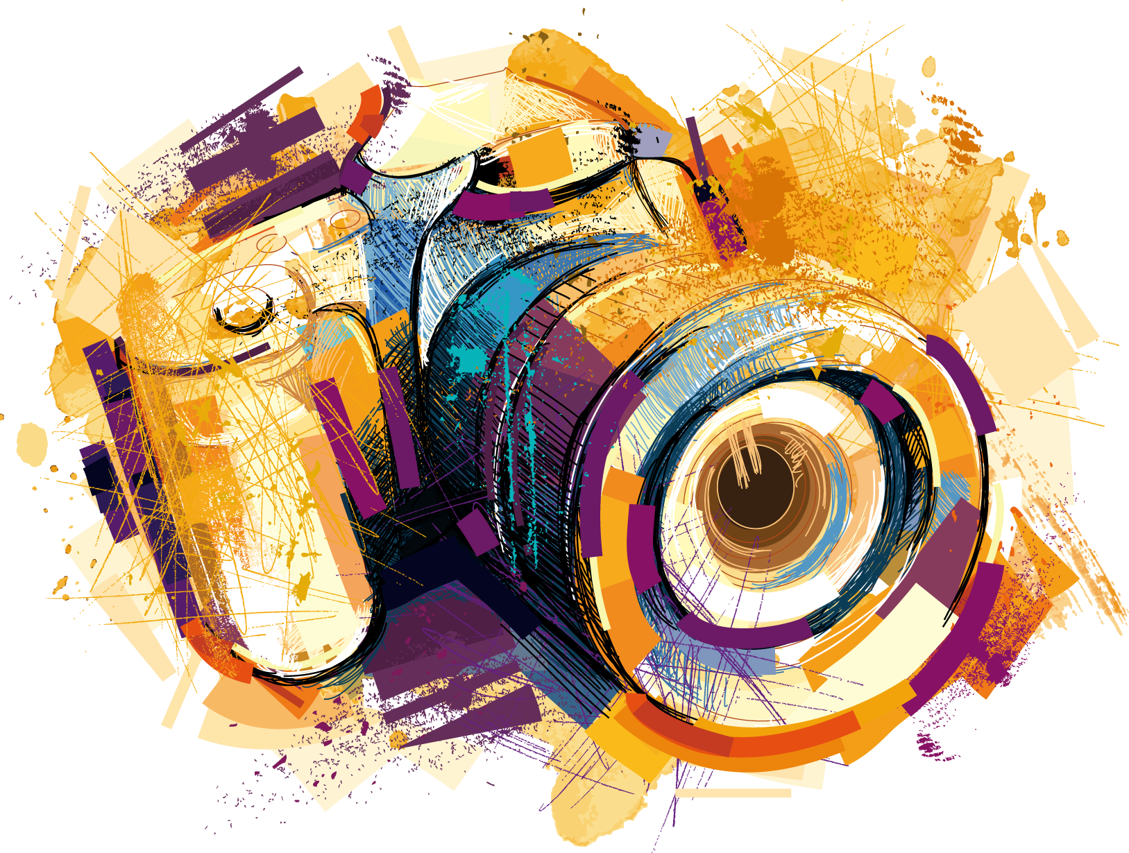 78000-camera-photography-watercolor-vector-effects-drawing